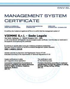 Viemme preview certificate